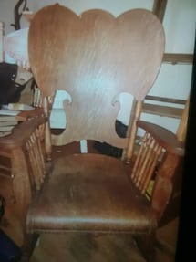 antique rocking chair over 100 years old