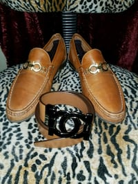 Authentic Salvatore Ferragamo shoes and belt!  Conroe, 77304