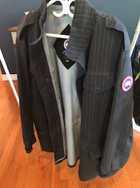 black and gray button-up coat South Frontenac, K0H