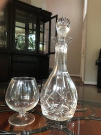 Atlantis crystal decanter and cognac glass Centreville, 20120