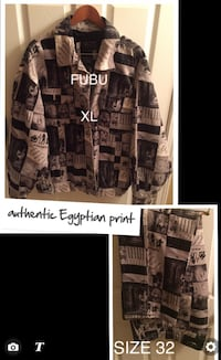 Black and gray authentic egyptian print hacket Westfield, 46074