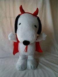 Fun and Flirty Peanuts Snoopy Standing Plush with New Chocolate Bar