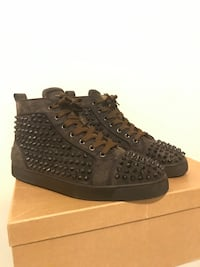 Christian Louboutin Spikes Dark Brown Suede Size 43 Perth Amboy, 08861