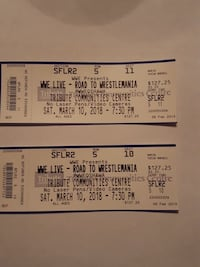 two WWE Live admission tickets Courtice, L1E
