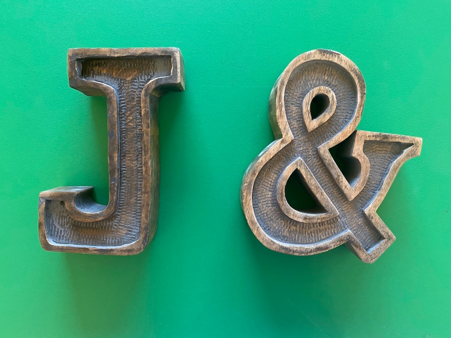 Photo J and & Wooden Letters