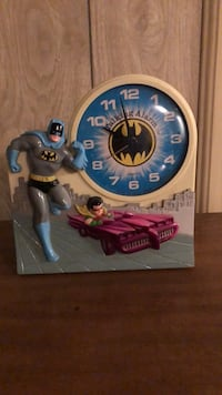 vintage batman n robin talking alarm clock