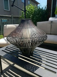Outdoor Lamp with Flickering Flame Bulb.  Oakville, L6H 6L3