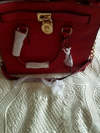 red and white leather tote bag Staten Island, 10301