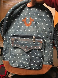 Blue and brown true religion backpack Suffolk, 23434