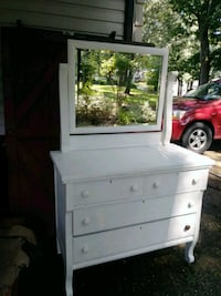 white wooden dresser with mirror Patchogue, 11772