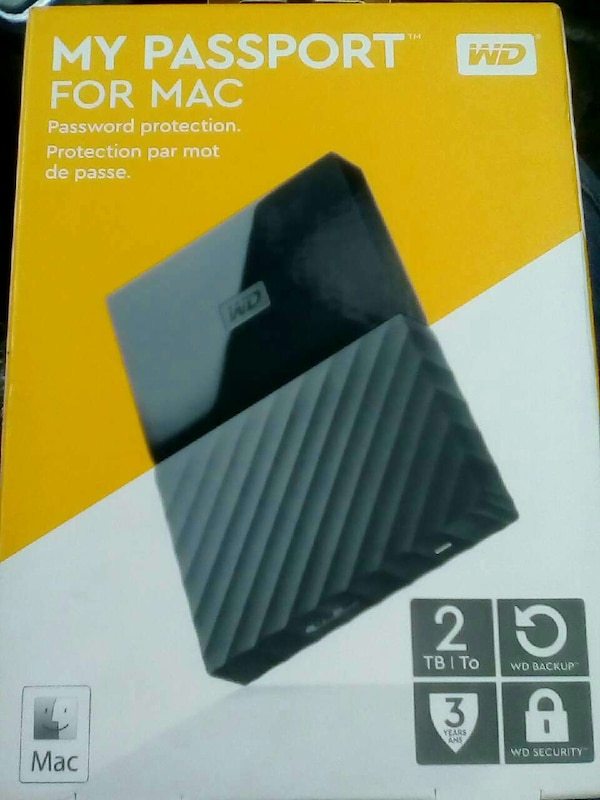 Used Western Digital My Passport For Mac box for sale in