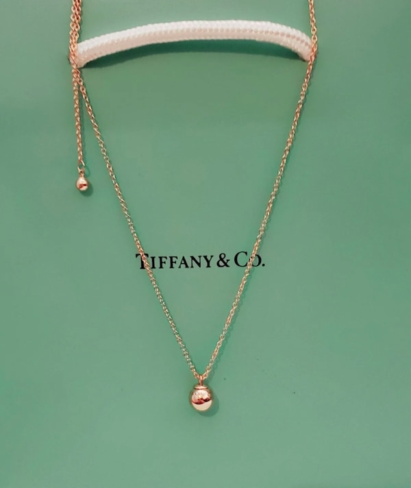 2076e55e6a9dc Used Tiffany & Co. Hardware Collection 8mm 18kt Rose Gold Necklace for sale  in New York - letgo
