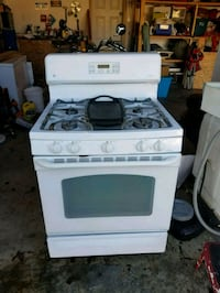 white 5 burner gas range oven 2286 mi