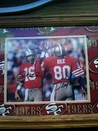 Signed Jerry rice and joe Montana picture  Turlock, 95380