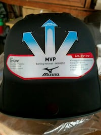 MVP SERIES GUN METAL BLACK L/XL BATTING HELMET    Monterey Park