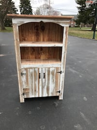 Primitive bookcase with doors