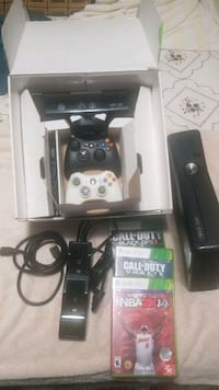 black Xbox 360 console with controller and game ca Los Angeles, 90044