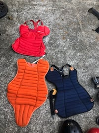 Baseball catcher vests size medium black, orange, red . $20 bucks each  Silver Spring, 20902
