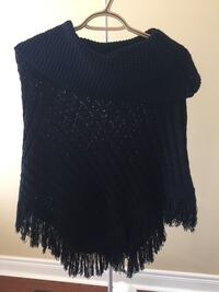 Black Poncho - one size fits all!!