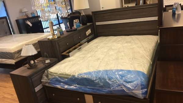 bedroom set with mattress queen