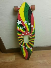 black, yellow, red, and green longboard set Oklahoma City, 73103