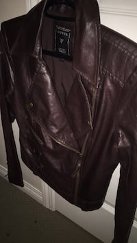 Guess ladies leather burgundy jacket SMALL Calgary, T2Y 4Z2