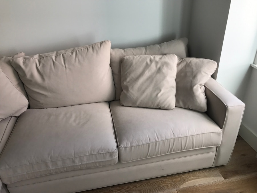 used room and board sectional l shape sofa in new york. Black Bedroom Furniture Sets. Home Design Ideas