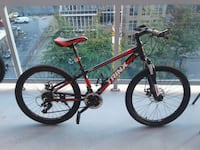 red and black Salcano hardtail mountain bike Delta, V4C 1Y1
