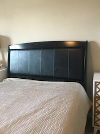 black wooden bed frame with white mattress Frisco, 75034