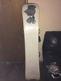 white wooden snowboard