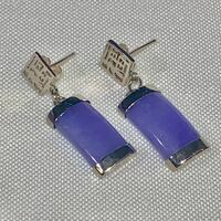 Sterling Silver Lavender Jade Earrings Ashburn