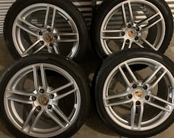 4 x 295/35/19 OEM PORSHE RIMS AND TIRES PAID $$5600 NOW $$2600