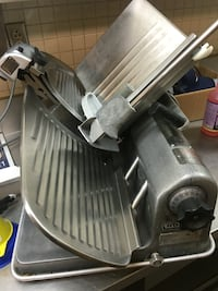 Hobart slicer, handle is lose and slide needs lubricated. One day deal for $350.  Sunbury, 43074