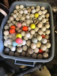 Huge lot of golf balls all makes in the bin.  I can hardly lift it there is so many in there. Asking $50 obo Keswick, L4P 3R8