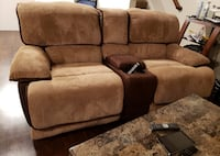 Dual Reclining Sofa and Dual Reclining Love seat Laguna Camel Ashburn