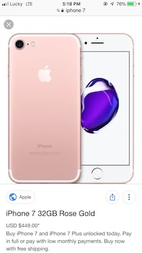 Great working iPhone 7 32 gb  Brock, L0K 1A0
