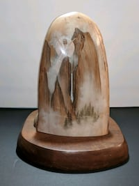 Painted Solid Wood Native American Sculpture Ocala, 34482
