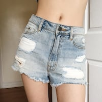 Urban outfitters BDG high waisted cheeky ripped denim shorts Toronto, M3A 1W8