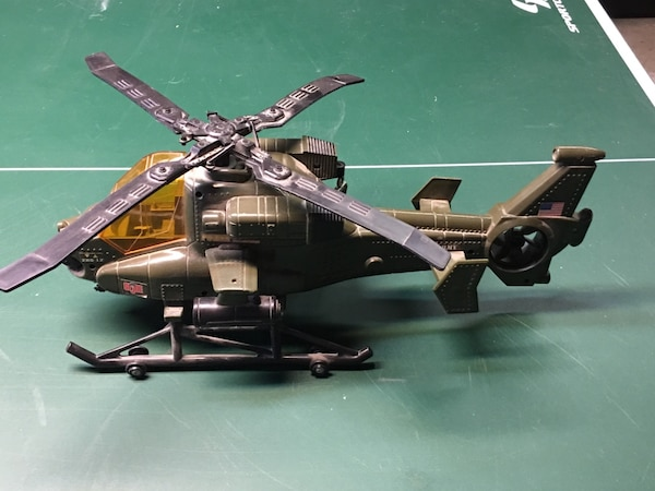 Battery operated helicopter toy