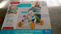 Fisher-Price learn with me zebra walker box
