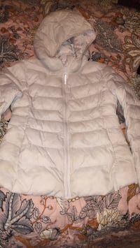 white zip-up bubble jacket Annandale, 22003