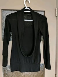 Scarf like Black long sleeve sweater size small