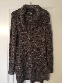 Brand new! women's long brown knit sweater. size small.