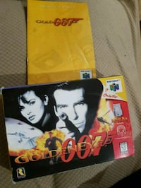 Nintendo 64 goldeneye box and manual box has wear n taped together  Mississauga, L4W 4A1