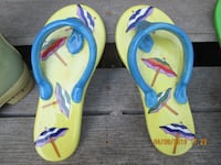 pair of blue-and-teal flip flops miniatures PUYALLUP