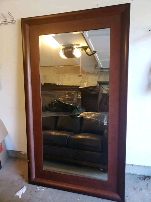 Large Framed Mirror 88016121-b3c4-49cd-beef-9b40e65cd555