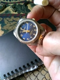 round gold-colored analog watch with link bracelet Chattanooga, 37416