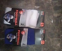 two pairs of blue and white Football socks Tulsa, 74129