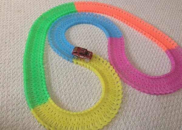 Glow in the dark car track. a98312ae-665d-4cad-a759-57372945390c