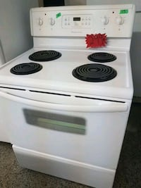 white 4-coil electric range oven